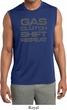 Gas Clutch Shift Repeat Grey Print Mens Sleeveless Moisture Wicking
