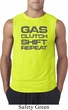 Gas Clutch Shift Repeat Grey Print Mens Sleeveless Shirt