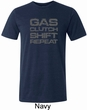 Gas Clutch Shift Repeat Grey Print Mens Tri Blend Crewneck Shirt