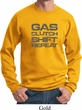 Gas Clutch Shift Repeat Grey Print Sweatshirt