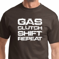 Gas Clutch Shift Repeat White Print