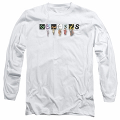 Genesis Long Sleeve Shirt New Logo White Tee T-Shirt
