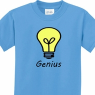 Genius Light Bulb Kids Shirts