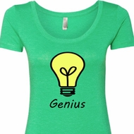 Genius Light Bulb Ladies Shirts