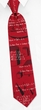 Geometry Red Silk Tie Necktie - Men's Geek Neck Tie