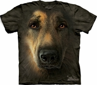 German Shepherd Shirt Tie Dye Portrait Face T-shirt Adult Tee