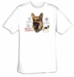 German Shepherd T-shirt - Guard Dog Facts Adult Tee Shirt