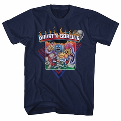 Ghost'N Goblins Shirt Logo Navy Blue T-Shirt