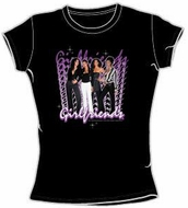 GIRLFRIENDS - CBS TV Show Juniors Size Fitted Black Girly T-shirt