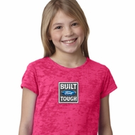 Girls Ford Shirt Built Ford Tough Small Print Burnout Tee T-Shirt