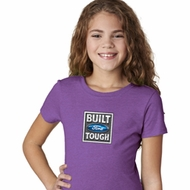 Girls Ford Shirt Built Ford Tough Small Print Tee T-Shirt