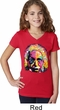 Girls Funny Shirt Albert Einstein V-Neck Tee T-Shirt
