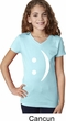 Girls Funny Shirt Smiley Chat Face V-Neck Tee T-Shirt