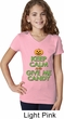 Girls Halloween Shirt Keep Calm and Give Me Candy V-Neck Tee T-Shirt
