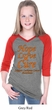 Girls Leukemia Cancer Hope Love Cure V-neck Raglan