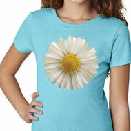 Girls Shirt White Daisy Tee T-Shirt