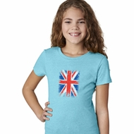 Girls UK Flag Shirt Union Jack Small Tee T-Shirt
