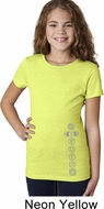 Girls Yoga Shirt 7 Chakras Bottom Print Tee T-Shirt