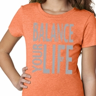 Girls Yoga Shirt Balance Your Life Tee T-Shirt