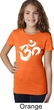 Girls Yoga Shirt Brushstroke Aum Tee T-Shirt