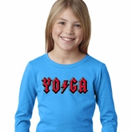 Girls Yoga Shirt Classic Rock Yoga Long Sleeve Tee T-Shirt