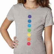 Girls Yoga Shirt Glowing Chakras Tee T-Shirt