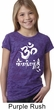 Girls Yoga Shirt OM Mani Padme Hum Burnout Tee T-Shirt