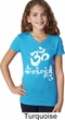 Girls Yoga Shirt OM Mani Padme Hum V-Neck Tee T-Shirt