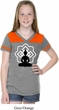 Girls Yoga Tee Buddha Lotus Pose Football Shirt