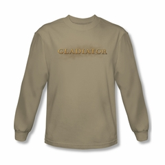 Gladiator Shirt Logo Long Sleeve Sand Tee T-Shirt