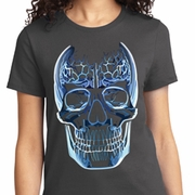 Glass Skull Ladies Halloween Shirts
