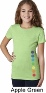 Glowing Chakras Bottom Print Girls Yoga Shirts