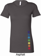 Glowing Chakras Bottom Print Ladies Yoga Shirts
