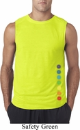 Glowing Chakras Bottom Print Mens Yoga Shirts