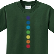 Glowing Chakras Kids Yoga Shirts