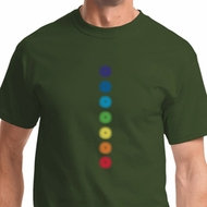 Glowing Chakras Mens Yoga Shirts