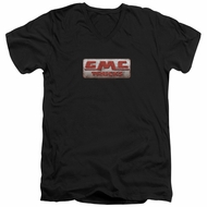 GMC Slim Fit V-Neck Shirt Beat Up 1959 Logo Black T-Shirt