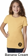 Gold AUM Patch Bottom Print Kids Yoga Shirts