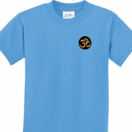 Gold AUM Patch Kids Yoga Shirts