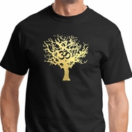 Gold Foil Tree of Life Mens Yoga Shirts