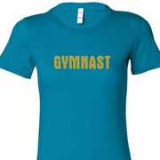 Gold Shimmer Gymnast Ladies Gymnastics Shirts