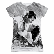 Gone With The Wind BW Poster Sublimation Juniors Shirt