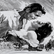Gone With The Wind BW Poster Sublimation Shirts