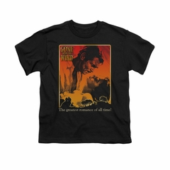Gone With The Wind Shirt Kids Greatest Romance Black Youth Tee T-Shirt