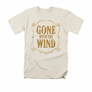 Gone With The Wind Shirt Logo Adult Cream Tee T-Shirt