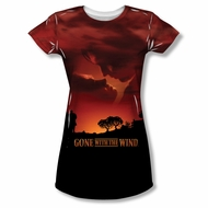 Gone With The Wind Sunset Sublimation Juniors Shirt