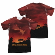 Gone With The Wind Sunset Sublimation Shirt Front/Back Print