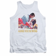Gone With The Wind Tank Top On Fire White Tanktop