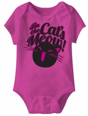 Good Luck Cat Funny Baby Romper Pink Infant Babies Creeper