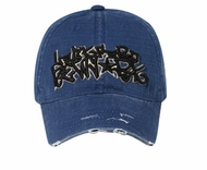 Graffiti Style New York Hat - Lackpard Cap - Navy